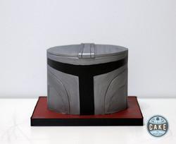 Th Mandalorian Helmet Cake