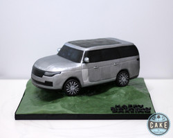 Range Rover Silver Custom Birthday Cake.