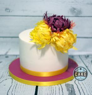 Chrysanthemum Wedding Cake