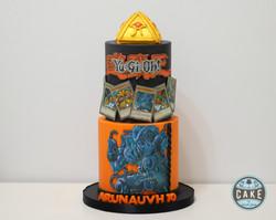 YuGiOh Cake custom orange