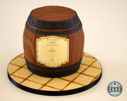 Custom Oban Whiskey Barrel Cake