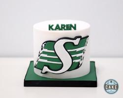 Saskatchewan RoughRiderFootball Cake