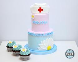 Nurse Graduation Daisy Custom Cake Calgary