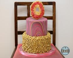 Geode Gold Rock Marble Custom Cake