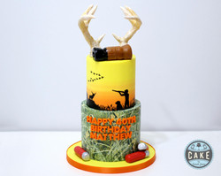 Hunting Camo Antlers Cake Custom