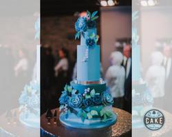 Modern Marble Colorful Wedding Cake Calg