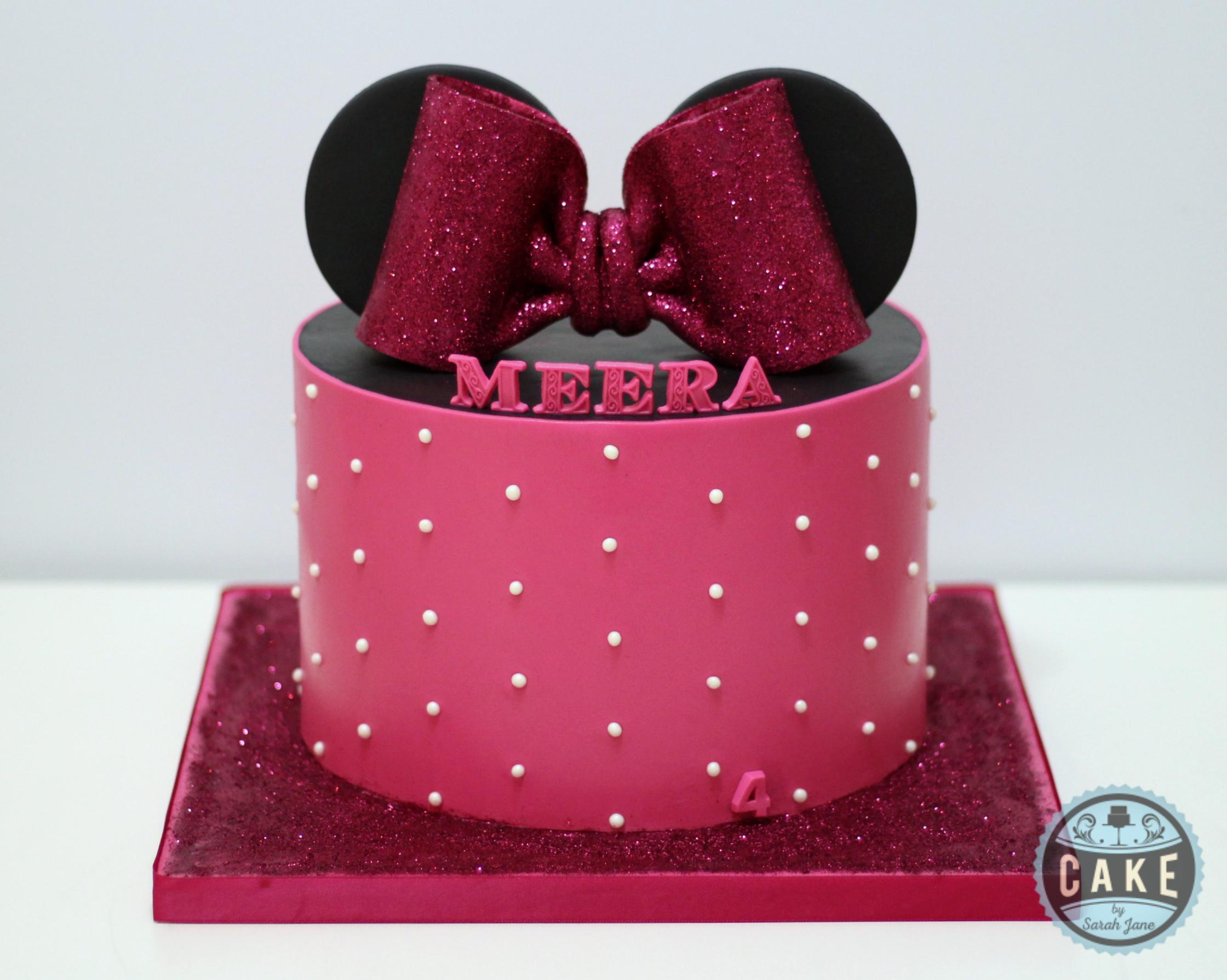 Minnie Mouse Birthday Cake Pink Pearls G