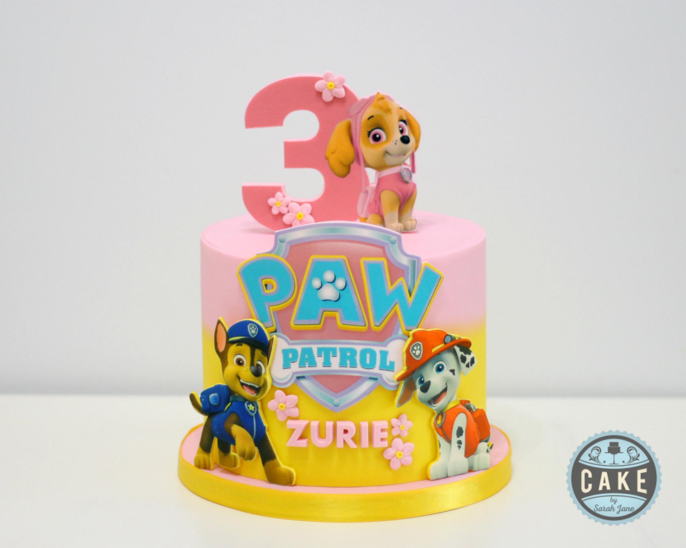 Pink Paw Patrol Cake