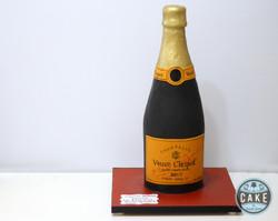 Champagne Bottle 40th Birthday Cake
