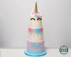 Pastel Unicorn Birthday Cake
