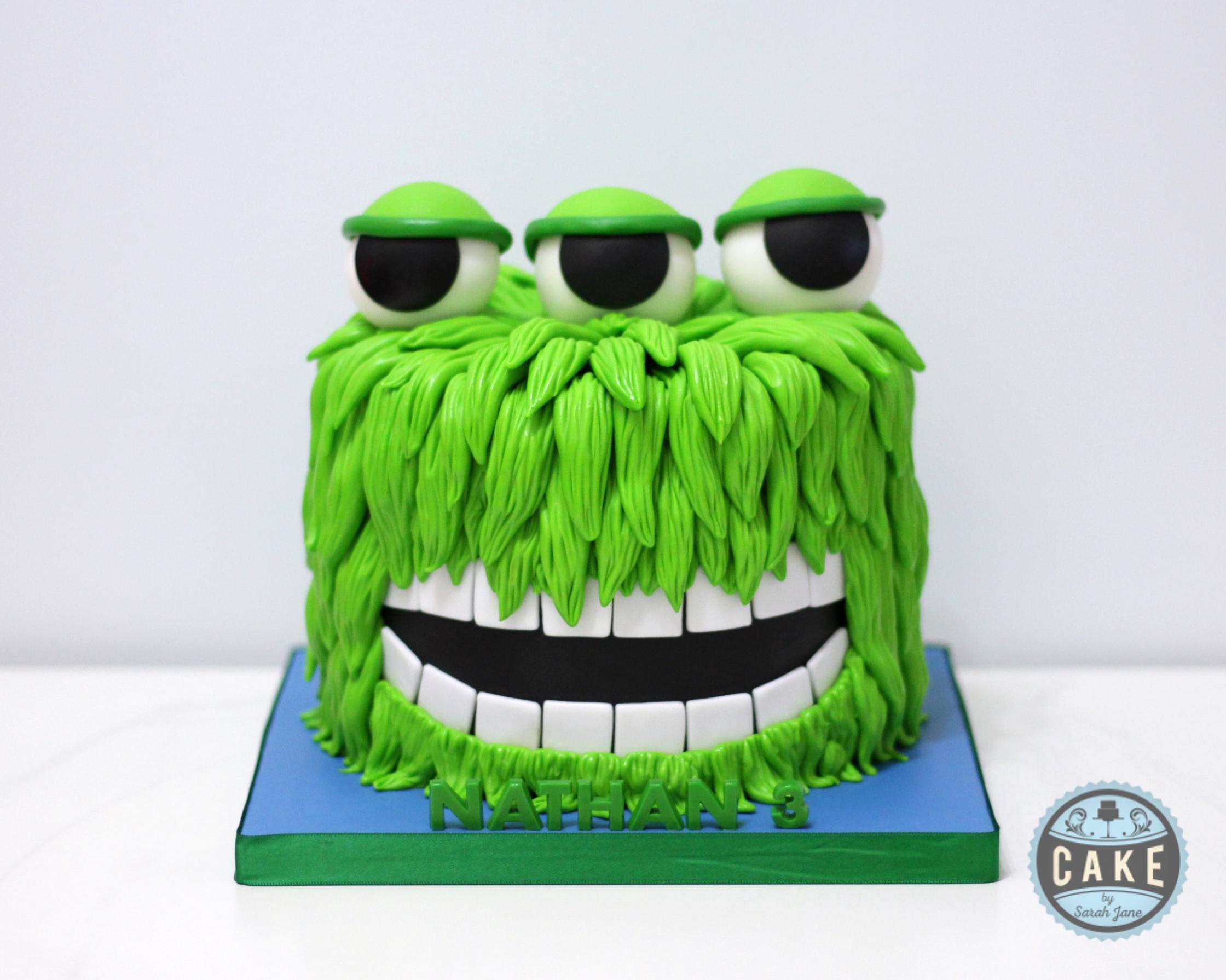 Green Monster Birthday Cake