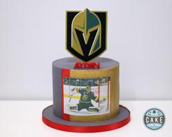 Vegas Knights Jersey colors Birthday Cake