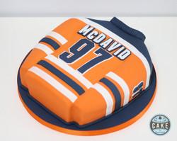 McDavid Jersey Oilers Birthday Cake