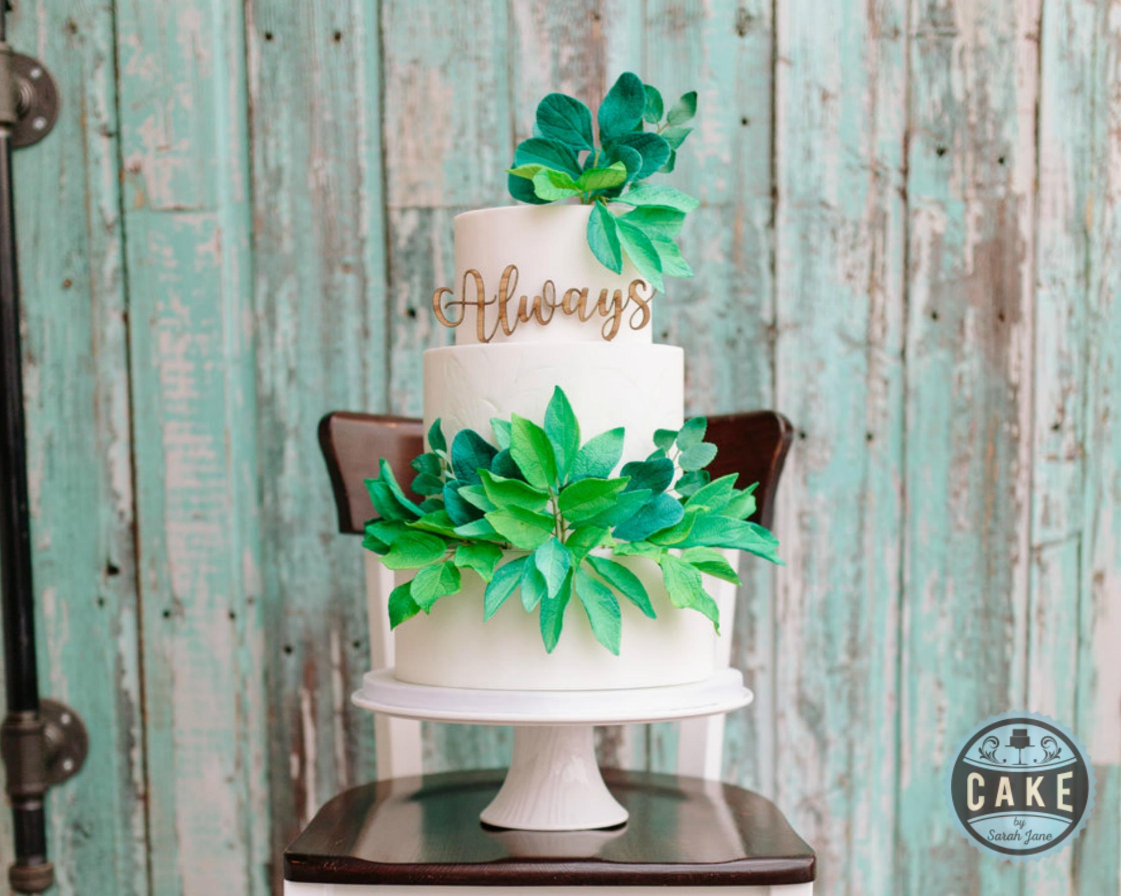 Greenery Wedding Cake Styled Shoot Calgary