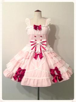 マイフェアレディビスチェ&スカート(ピンク)