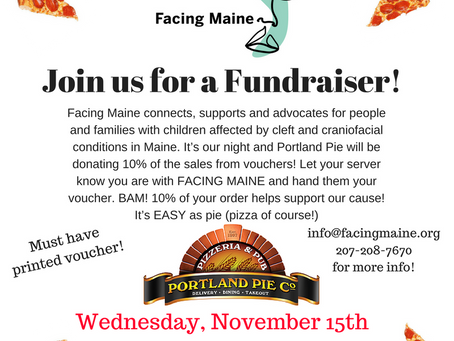 PIZZA Fundraiser for Facing Maine - Join us!