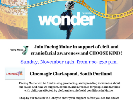 Facing Maine stands behind CHOOSES KIND! See the movie WONDER and show your support!