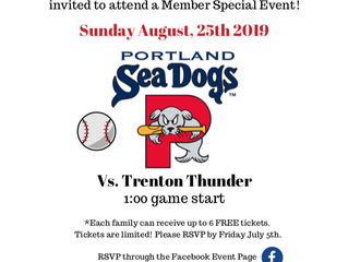 Facing Maine Members Only Summer Event - Summer fun with the Portland Sea Dogs!