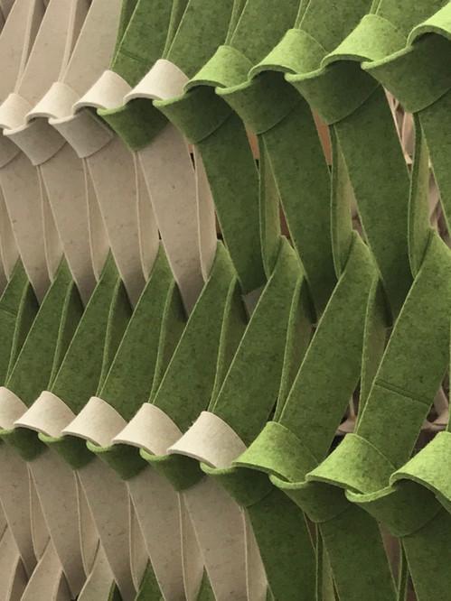 PLECTERE duo tone acoustic textile green