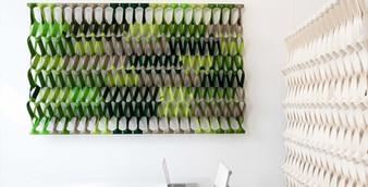 PLECTERE green acoustic textile table 1