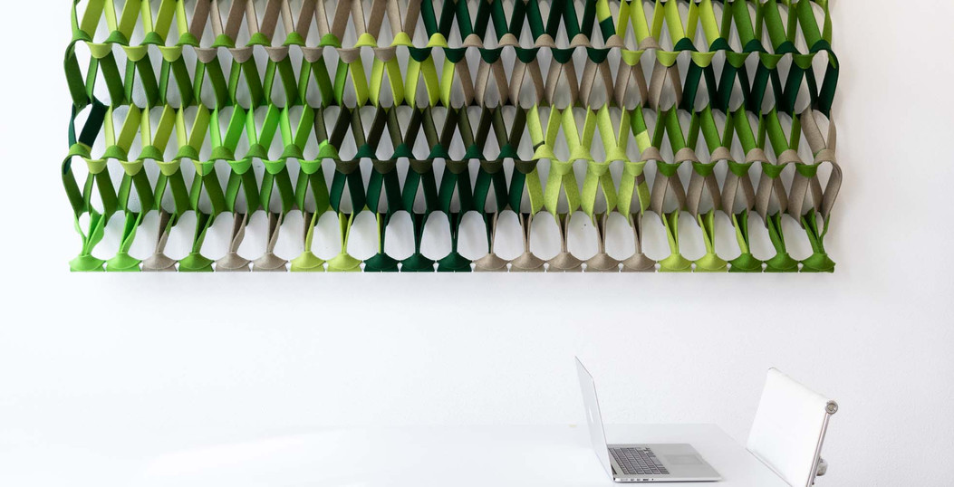 PLECTERE green acoustic textile table 2