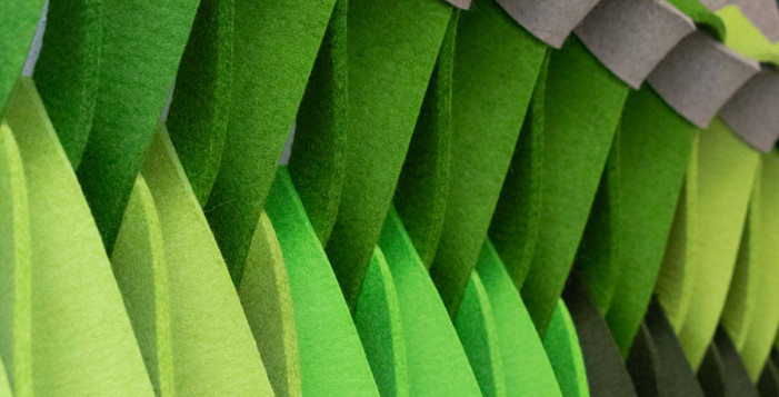 PLECTERE green acoustic textile detail 1