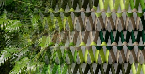 PLECTERE green acoustic textile green wa