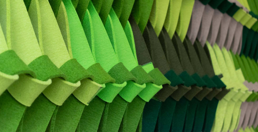 PLECTERE green acoustic textile detail 2