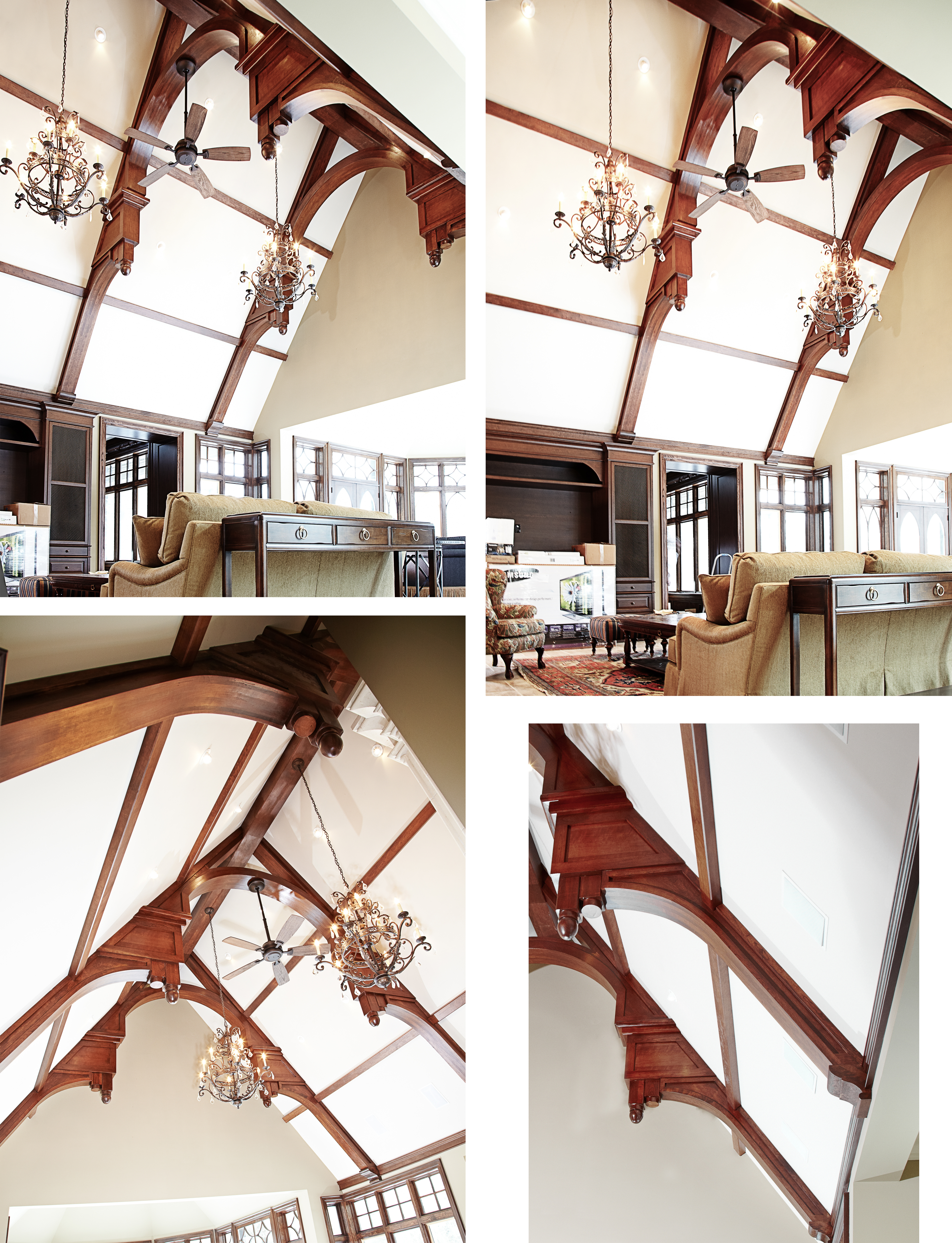 Cherry ceiling beams