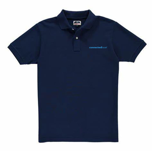 Connected Boat® Navy Polo