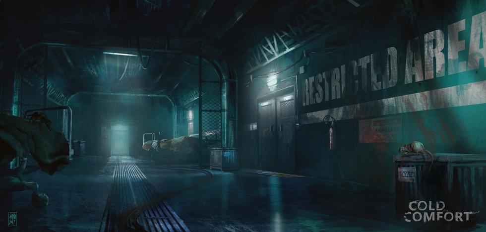 Cold confort game -underground-corridor.