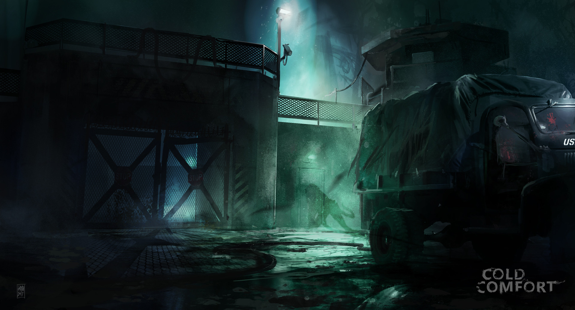 Cold confort game - Prison main-entrance