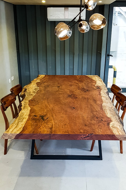 African Rosewood Slab Dining Table