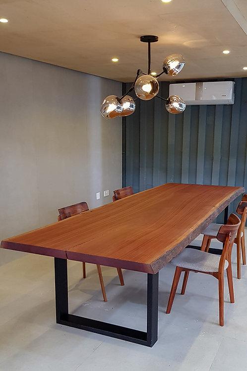 Mahogany Pommele Live-edge Table