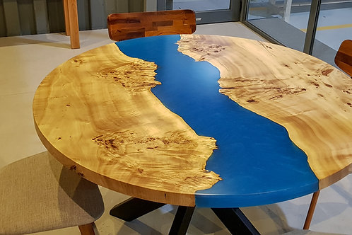 Mappa Burl Resin River Table