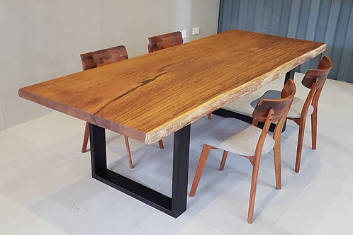 African Teak Live-edge table