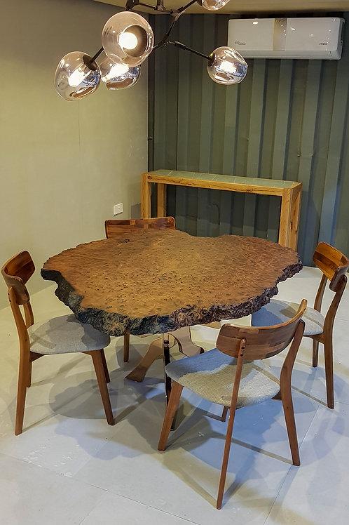 Redwood Burl Live-edge Round Table