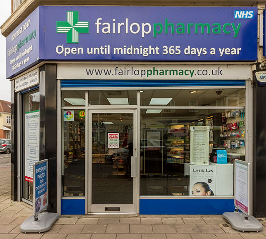 fairlop pharmacy shop front