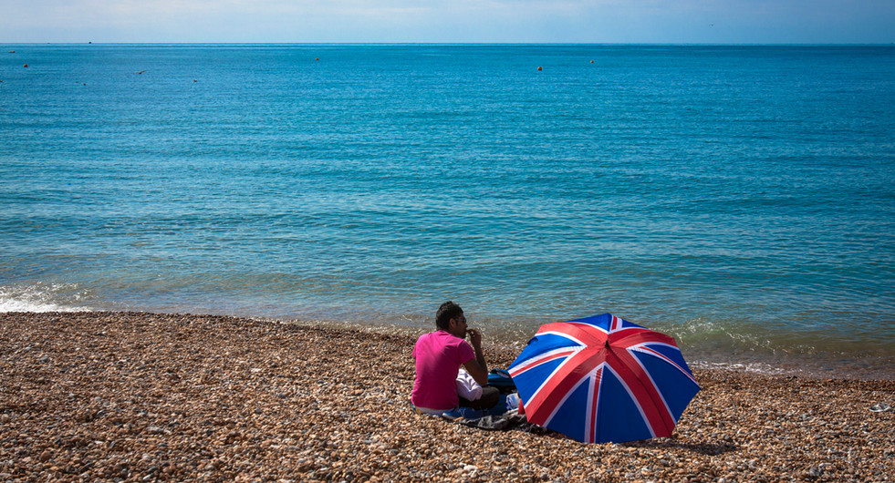 Seaside scene. Brighton, UK.