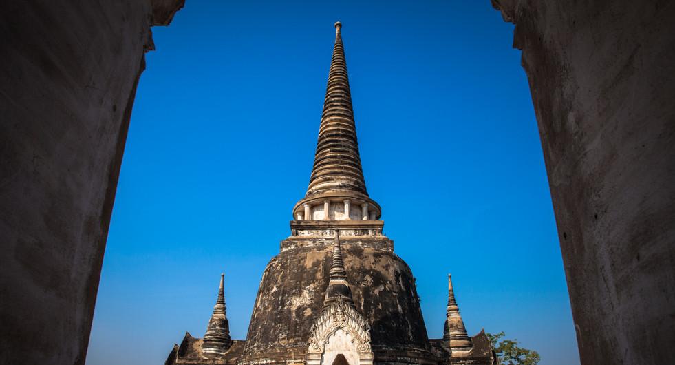 Wat Phra Si Sanphet stupa. Ayutthaya, Thailand.