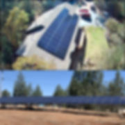 Solar Home Power System Roof and Ground