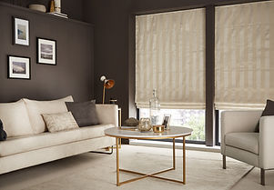 roman blinds in lounge