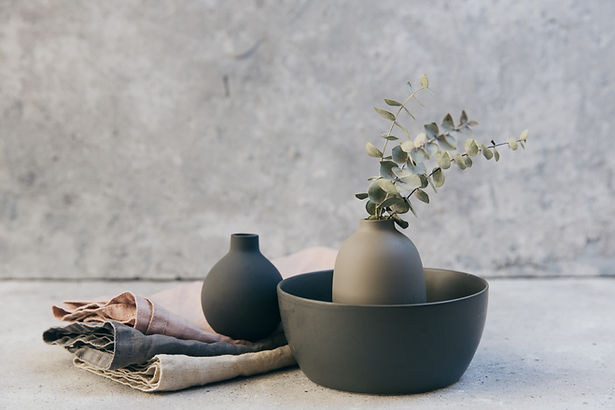 植物と陶器