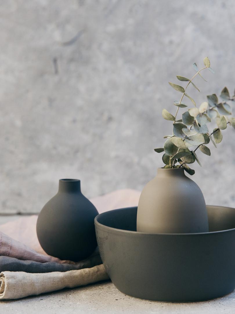 Plantas y alfarería
