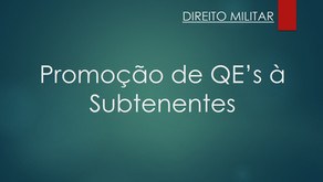 Ação de Promoção dos QE's à Subtenente