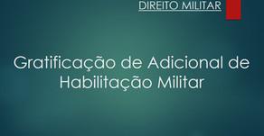 Retificação do Adicional de Habilitação Militar por Conclusão de Curso de Formação - Ação Procedente