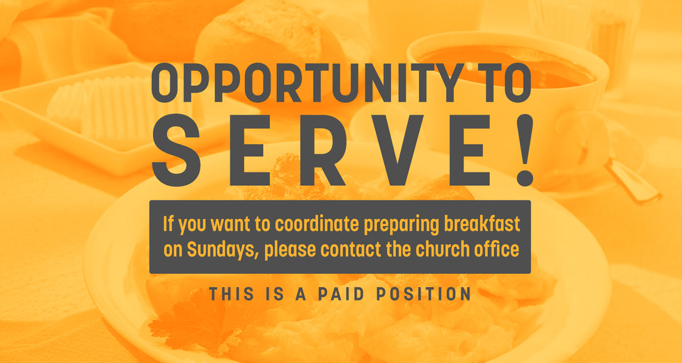 PAID POSITION AVAILABLE