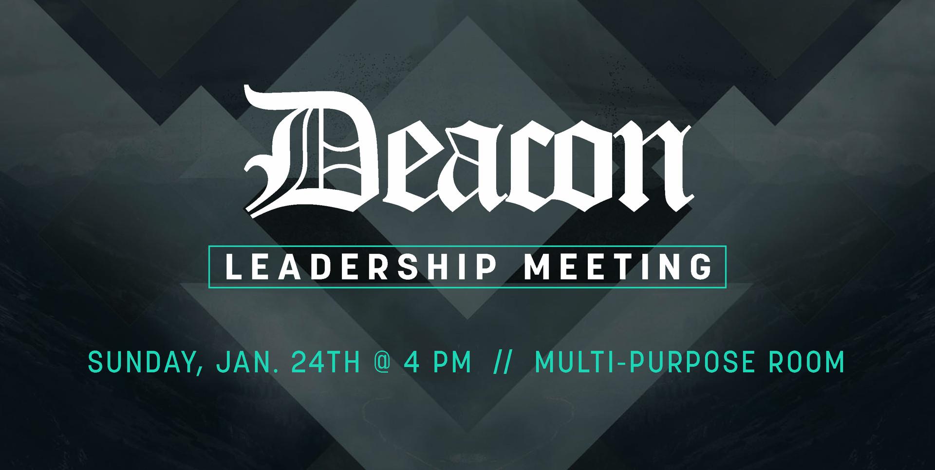 DEACON LEADERSHIP MEETING
