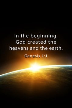 The First Day - Genesis