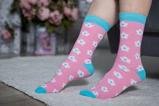 Женские цветне носки